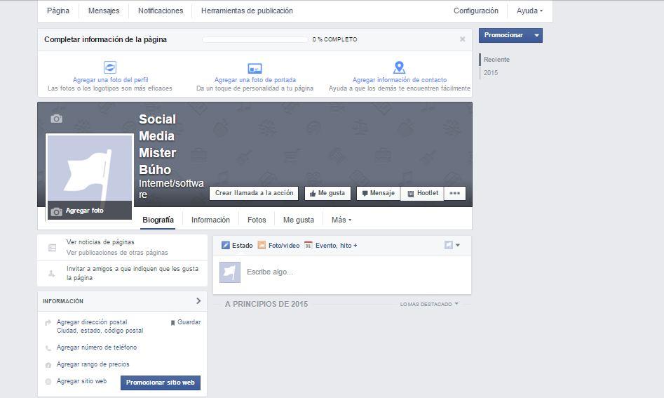 pagina de facebook para mi negocio online
