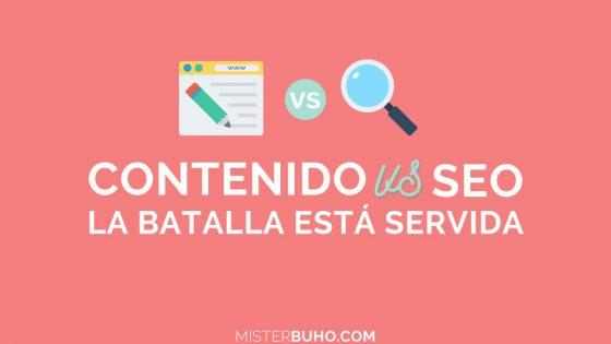 Agencia SEO Barcelona Contenido Vs SEO