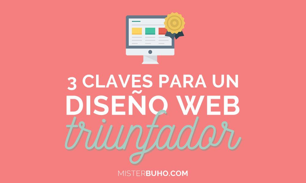 3 claves para un diseño web triunfador