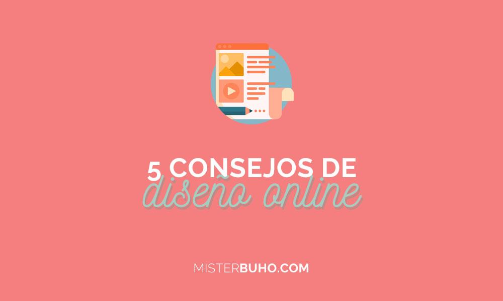 5 consejos de diseño online