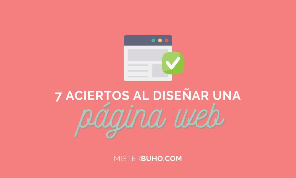 Aciertos al diseñar una web